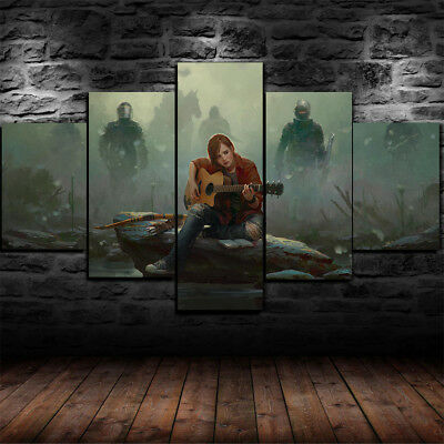 Framed THE LAST OF US 2 Ellie Canvas Print Wall Art Home Decor 5 Piece