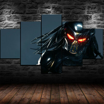 Large Framed The Predator Movie 5 Piece Canvas Home Decor Wall Art Decor