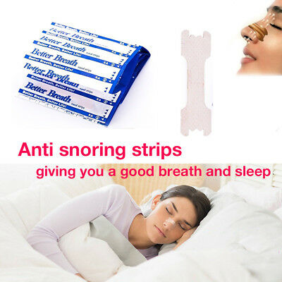 10-300 Better Breath Nasal Nose Strips Right Easy Stop Anti Snoring Sleeping Aid