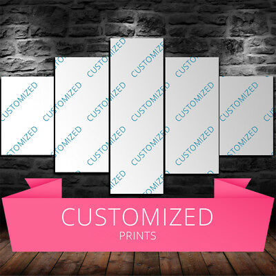 Large Framed Custom Picture 5 Piece Canvas Home Decor Customized Wall Art