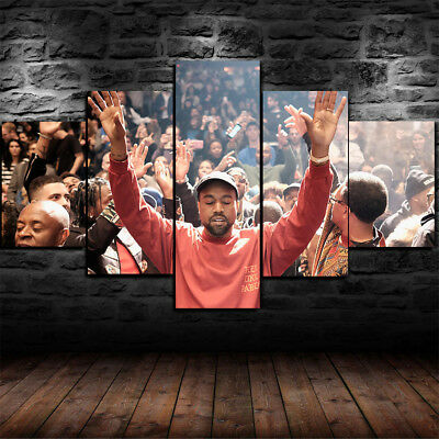 Framed  Kanye West The Life Of Pablo Canvas Print Wall Art Home Decor 5 Piece