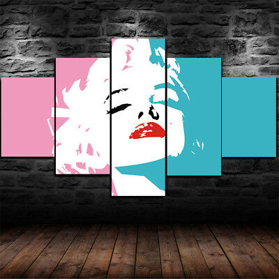 Framed Marilyn Monroe Minimalism abstract 5 Piece Canvas Home Decor Wall Art