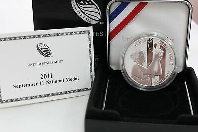 MINT ISSUE ✪ SILVER 999 1 OZ OGP◢TRUSTED◣ 2011 SEPTEMBER 11TH PROOF MEDAL ✪ U.S