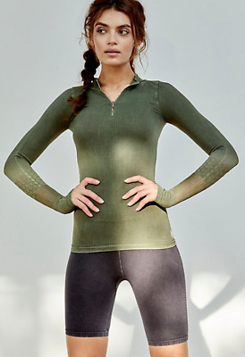 NEW Free People Movement Seamless Dale Layering Top Golden Sz XS//S /& M//L $74.24