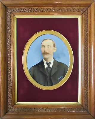 1 of 2. FINE 19thc OIL PORTRAIT PAINTING OF A DISTINGUISHED GENTLEMAN Circa 1880