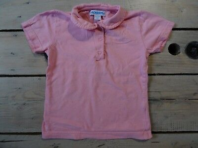 T-shirt polo rose clair manches courtes ORCHESTRA Taille 5 ans / 110 cm
