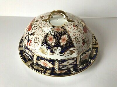 Royal Crown Derby Traditional Imari #2451 Bone China Covered Muffin Dish 1924