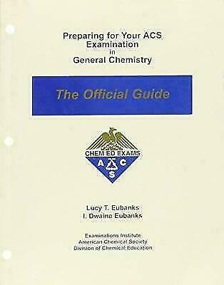 Preparing for Your ACS Examination in General Chemistry:Official Guide 19th-PDF
