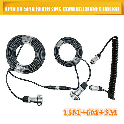 Truck Trailer ABS 4 to 5 Core Pins Coil / Lead Coiled Cable Kits 15+6+3 Meter