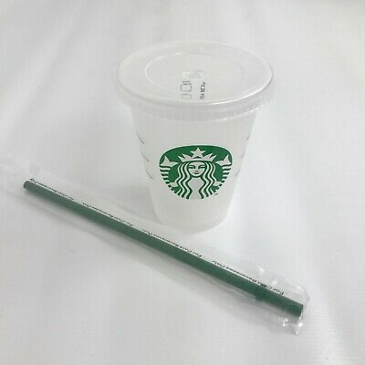 Starbucks Reusable Frosted Cold Cup Tumbler Travel Grande with Straw 16oz 473ml