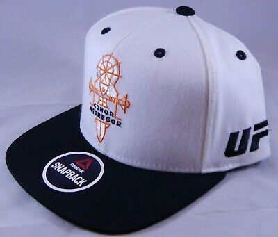 417739a7bb3c62 Conor McGregor White Reebok Snapback Hat with Sample Tag UFC Fight For  Peace Cap