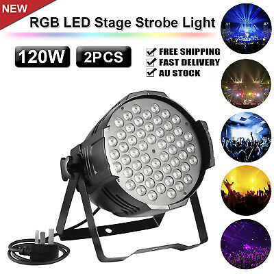 2X 120W LED RGB Stage Strobe Light Par Projector DMX Disco Party Lamp AU Stock
