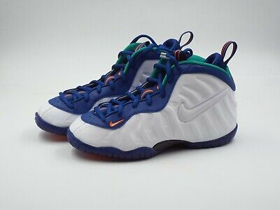 1cf65f9caef NIKE AIR LITTLE Posite Pro (PS) Gym Blue White-Neptune Green 843755 ...