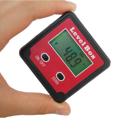 1.4'' Inclinometer Precision Digital Bevel Angle Gauge Protractor Level Box Red