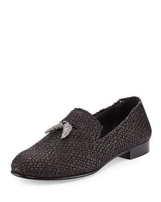 9f6a4a4001bb3 Size 8 / 41 Giuseppe Zanotti Grey Suede Silver Horn Slip On Loafers Mens  $795
