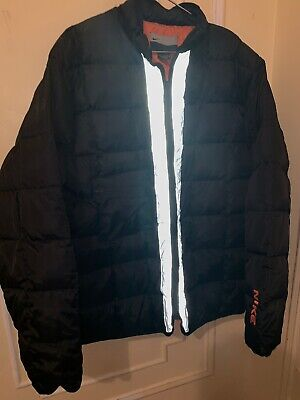 085eccd4f Vintage Nike mens Duck down Puffer jacket Men's Size XL Black and Orange