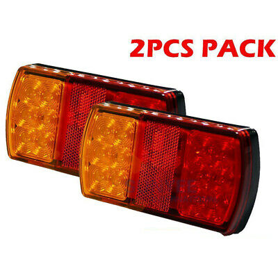 Car Trailer Stop Tail Light 12-LED Lamps Indicator For Submersible Boat 12V New