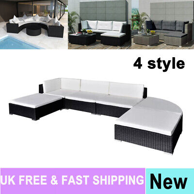 Rattan Corner Sofa Set Outdoor Seater Table Chair Patio Garden Conservatory Gift
