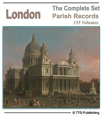 London Parish Registers - 155 Books on DVD - Family Tree Genealogy Research 77