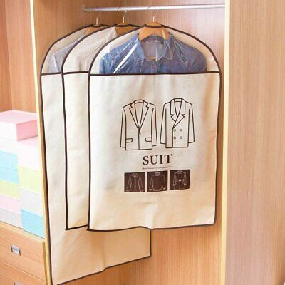 Clear Window Storage Cloth Suit Skirt Clothes Bag Case Cover Organizer Non Woven
