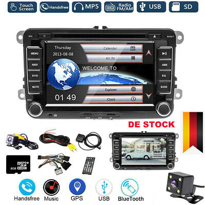 "7"" Autoradio DVD GPS NAVI 2DIN Bluetooth für VW Passat Golf 5Touran Polo + CAM"