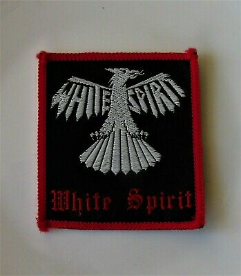 WHITE SPIRIT ORIGINAL VINTAGE SEW ON PATCH FROM 1980's NWOBHM IRON MAIDEN RED