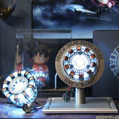 LED Arc Reactor MK2 Tony Stark Has A HEART Display Set For Iron Man Home Deco