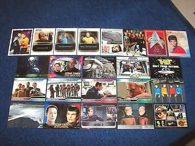 Star Trek Lot Of 23 Different Promo And Prototype Cards (18-30)