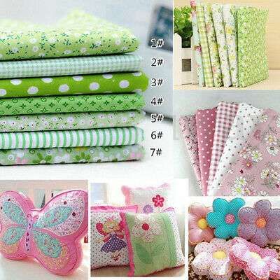 """7PCS Assorted Pre Cut Charm Quilt Cotton Fabric DIY Craft Gift 10""""Squares A"""