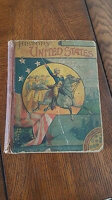 Vintage History Book History of the United States in Words of One Syllable 1883