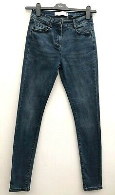Ex High Street Mid Rise Skinny Jeans Blue or Black Sizes 6-22 NEXT Day Postage