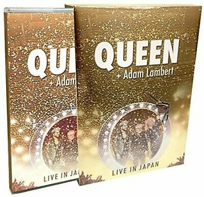 Queen Adam Lambert Vivir en Japan 2014 Blu-Ray + CD Juego Mirror Abrigo Funda