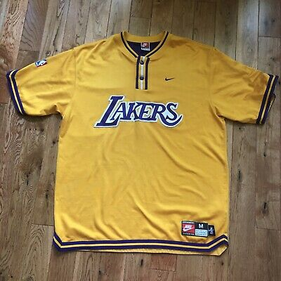 e53afe7bb113 Vintage Nike Authentic Los Angeles Lakers Warm Up Shooting Shirt Jersey M