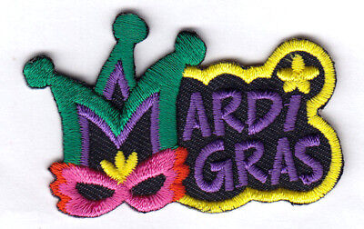 "/""MARDI GRAS/"" Iron On Patch Holiday Celebration New Orleans Louisiana"