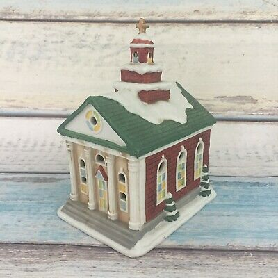 Church HomCo Ceramic Vintage Lighted House #8914 Christmas Village Town