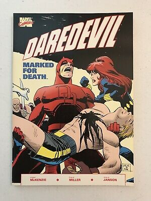 Daredevil Comic Tpb! Marked For Death! Marvel! 1St Print March 1990!