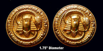 Vintage Brass Stampings Egyptian Revival/ King Tut Medalli - 2 Styles - One Pc.