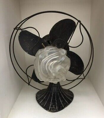 Unusual Art Deco Period Desk Fan With Lamp With Patent Quickfix Gallery