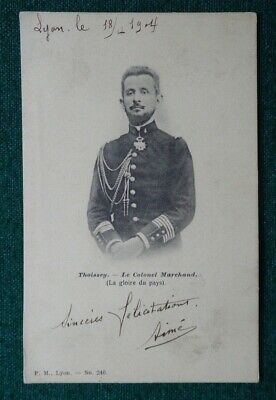 Antique Jean-Baptiste Marchand French Explorer in Africa Fashoda Signed Postcard