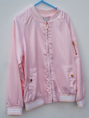 * REDUCED * MAYORAL Girl's Pale Pink/White Polka Dot Blouson Style Jacket AGE 8