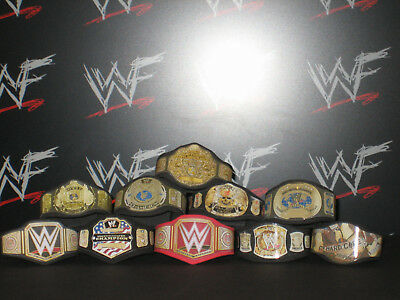10 x Custom WWF WWE Title Belts For Hasbro Mattel Retro Wrestling Figures