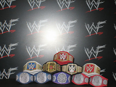 10 x Custom WWF WWE NXT Title Belts For Hasbro Mattel Retro Wrestling Figure ECW