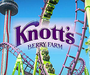 (4) FOUR Single Day E-Tickets! Knotts Berry Farm or Soak City General Admission