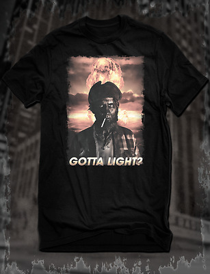 New Black Twin Peaks The Return Woodsman T-Shirt Gotta Light Tee David Lynch