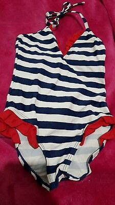 Lovely Girls stripey Swimming Costume Age 4 Years