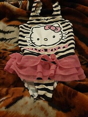 Lovely Girls m&s hello Kitty Swimming Costume Age 4-5 Years