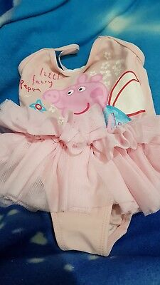 Lovely Girls GEORGE PEPPA PIG Swimming Costume Age 9-12 Months
