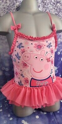 Lovely Girls yd peppa pig swimming Costume Age 5-6 Years