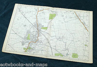 LONDON, 1924 - HARROW, WEALDSTONE & EDGWARE, Original Street Map / Plan, Bacon.