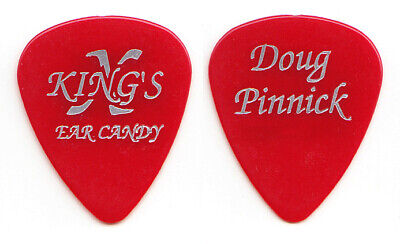 King's X Doug Pinnick Signature Red/Silver Guitar Pick - 1996 Ear Candy Tour